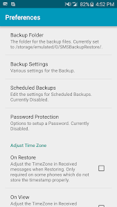 screenshot of SMS Backup & Restore version 8.31.79