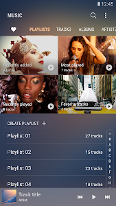 screenshot of Samsung Music version Varies with device