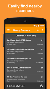 screenshot of Scanner Radio - Fire and Police Scanner version Varies with device