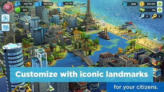 screenshot of SimCity BuildIt version 1.26.8.82216