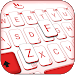 Download Simple White Red Keyboard Theme 6.2.15.2019 APK