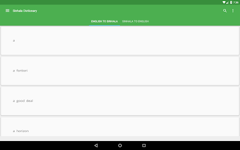 screenshot of Sinhala Dictionary Offline version Varies with device