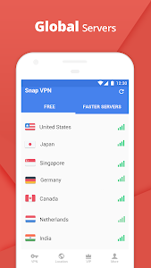 screenshot of Snap VPN - Unlimited Free & Super Fast VPN Proxy version 3.7.4