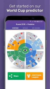 screenshot of FotMob World Cup 2018 version Varies with device