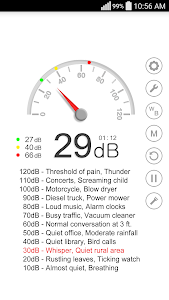 screenshot of Sound Meter version 3.2.3