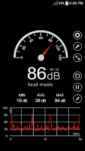 screenshot of Sound Meter version 3.2.5