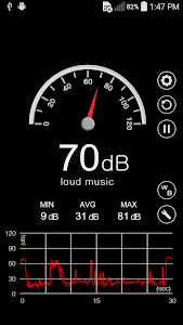 screenshot of Sound Meter version 3.0.1