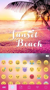 screenshot of Sunsetbeach Keyboard Theme version 25.0