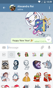 screenshot of Telegram version Varies with device