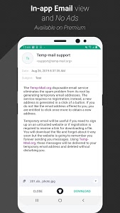 screenshot of Temp Mail - Temporary Disposable Email version 1.76