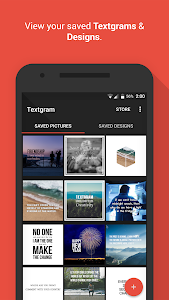 screenshot of Textgram - write on photos version Varies with device