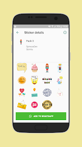 screenshot of Thanks stickers for Whatsapp - WAStickerApps version 1.0