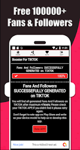 screenshot of TikBoosting : Real TikTok Likes, Fans & Followers version 1.0