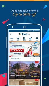 screenshot of Tiket.com - Flight Tickets, Train, Hotel Booking version 1.12.8