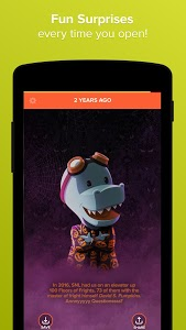 screenshot of Timehop version Varies with device