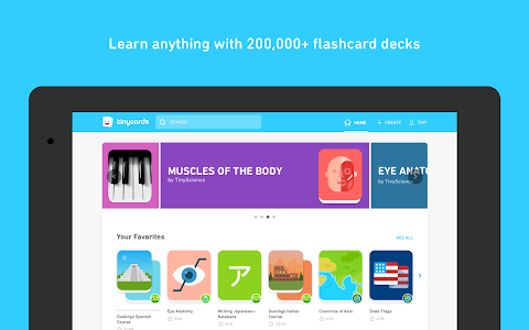 screenshot of Tinycards by Duolingo: Fun & Free Flashcards version 1.0