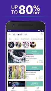 screenshot of Tophatter: Shopping Deals, Fun Discounts & Savings version Varies with device