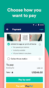 screenshot of Trainline: Book bus & train tickets for Europe version Varies with device