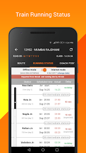 screenshot of PNR Status, Train Running Status & Ticket Booking version 8.4.0.2