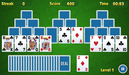 screenshot of TriPeaks Solitaire Challenge version Varies with device