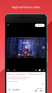screenshot of Tube Player : Video Tube, Music Tube version 1.1.2