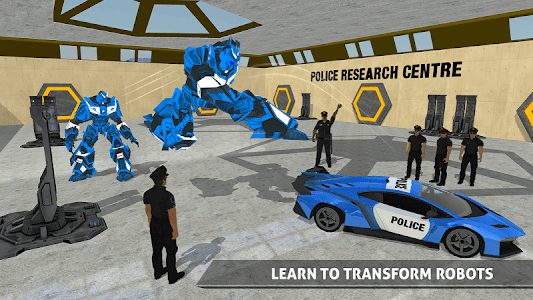 screenshot of US Police Robot Car Game – Police Plane Transport version 1.13
