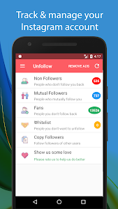screenshot of Unfollow for Instagram - Non followers & Fans version 1.0