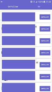 screenshot of Unfollowers for Instagram,lost version 1.4