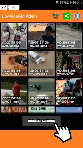 screenshot of Video Downloader for Facebook version 2.4.1