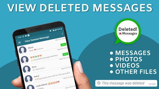 screenshot of View deleted messages & photo recovery version 11.9
