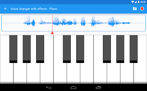 screenshot of Voice changer with effects version 3.6.2