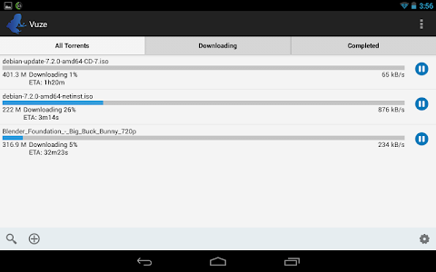 screenshot of Vuze Torrent Downloader version 2.1