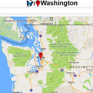 screenshot of Washington Map version 2.6x