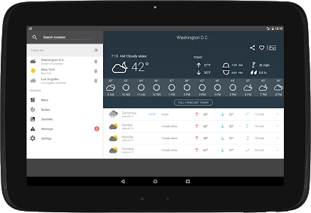 screenshot of Weather 14 Days - Meteored version 6.7.3_free