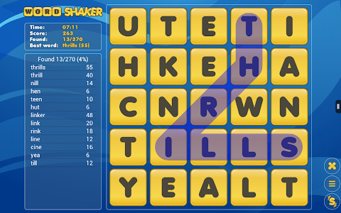 screenshot of Word Shaker Free version Varies with device