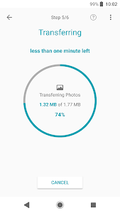 screenshot of Xperia Transfer Mobile version 2.3.A.0.20