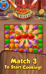 screenshot of Yummy Drop! - A Free Match 3 Puzzle Cooking Game version Varies with device