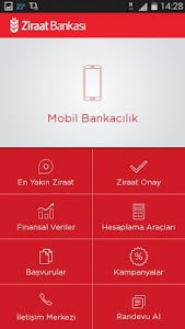 screenshot of Ziraat Mobil version 1.1.2