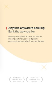 screenshot of digibank by DBS Mobile Banking version 3.4.02
