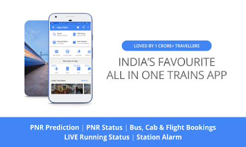screenshot of Indian Rail Train PNR & Running Status, IRCTC Info version 3.3.3