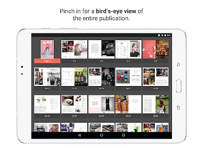 "screenshot of Issuu - ""Create & Discover Stories"" version 5.30.0"