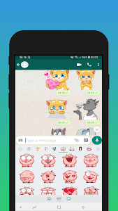 screenshot of \ud83d\udc37 WAStickerApps Cute Animals planet version 1.0